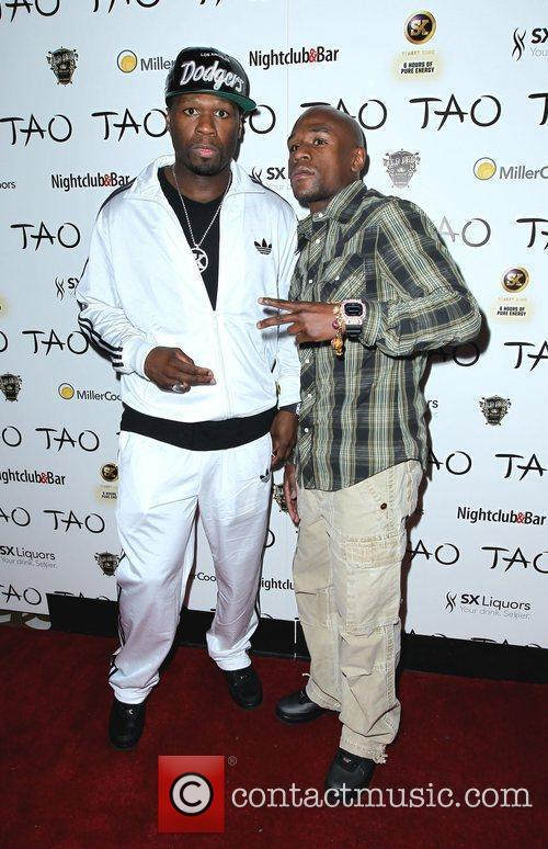 50 Cent, Floyd Mayweather Jr. and Tao Nightclub 3