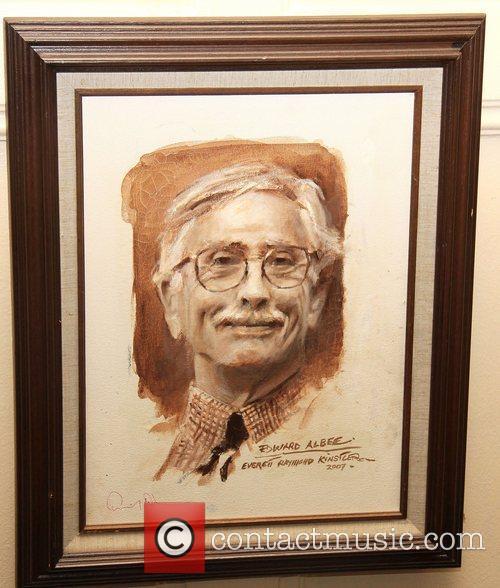 A 2007 portrait of Edward Albee displayed...