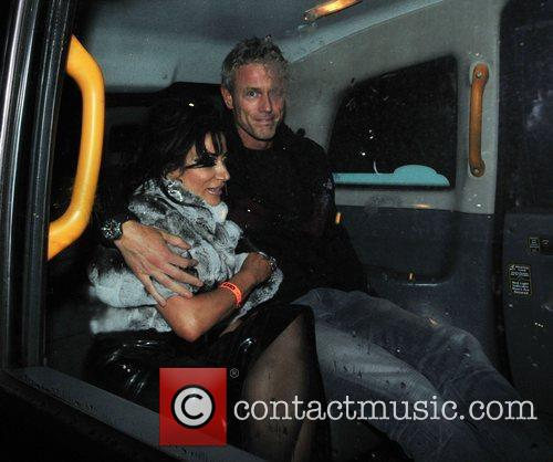Nancy Dell'Olio and Mark Foster Celebrities leaving Playground...