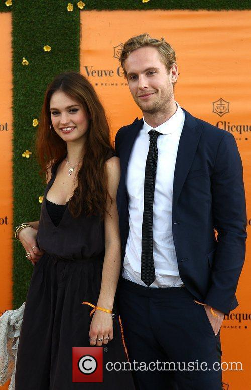 Jack Fox and Lily James Veuve Clicquot Gold...