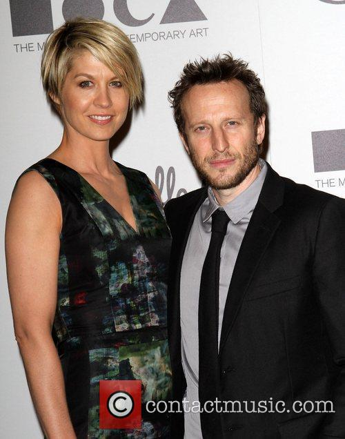 Jenna Elfman and Bodhi Elfman Grand opening of...