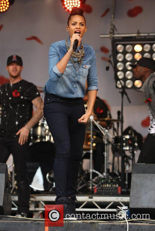 Alesha Dixon and Trafalgar Square 2