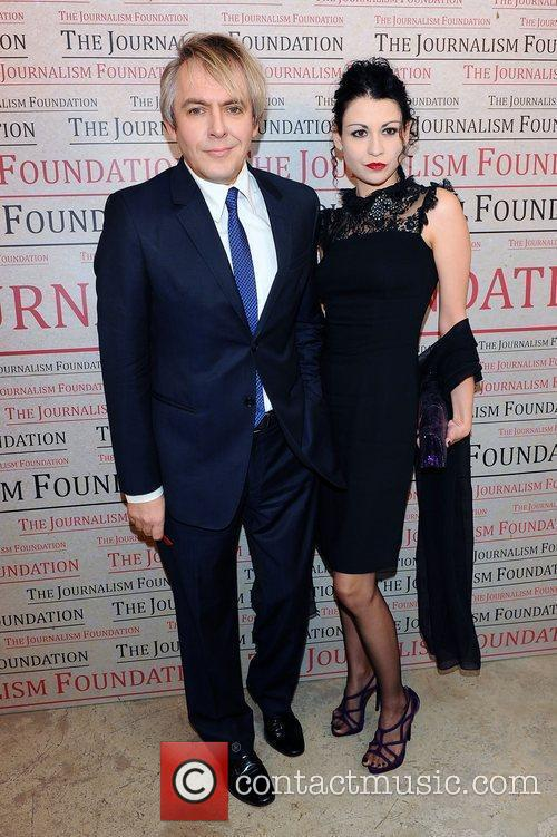 Nick Rhodes and wife,  at the A...