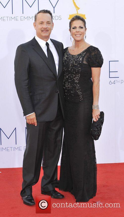 Rita Wilson, Tom Hanks  64th Annual Primetime...
