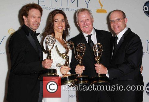 Jerry Bruckheimer, Elise Doganieri, Bertram, Munster, Jonathan Littman and Emmy Awards