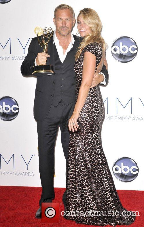 Kevin Costner, Christine Baumgartner and Emmy Awards 7