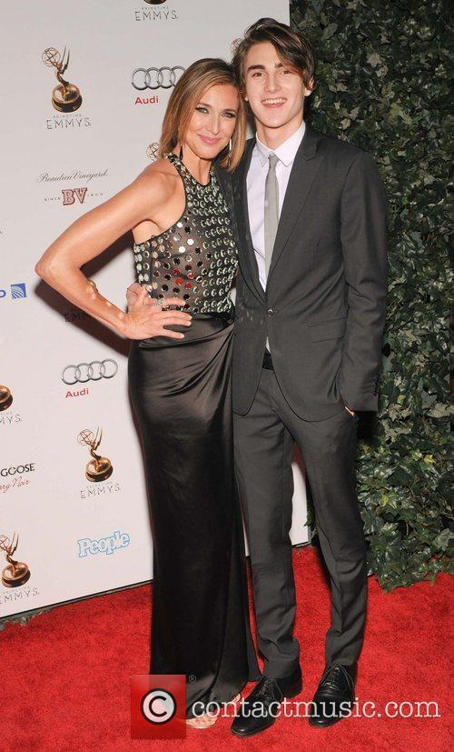 Brenda Strong and Guest 64th Primetime Emmy Awards...