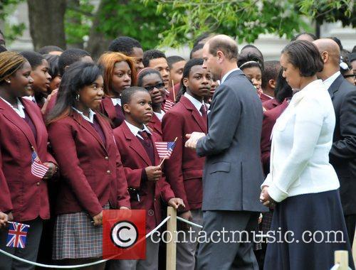 Greets children from The Duke of Edinburgh's Award...