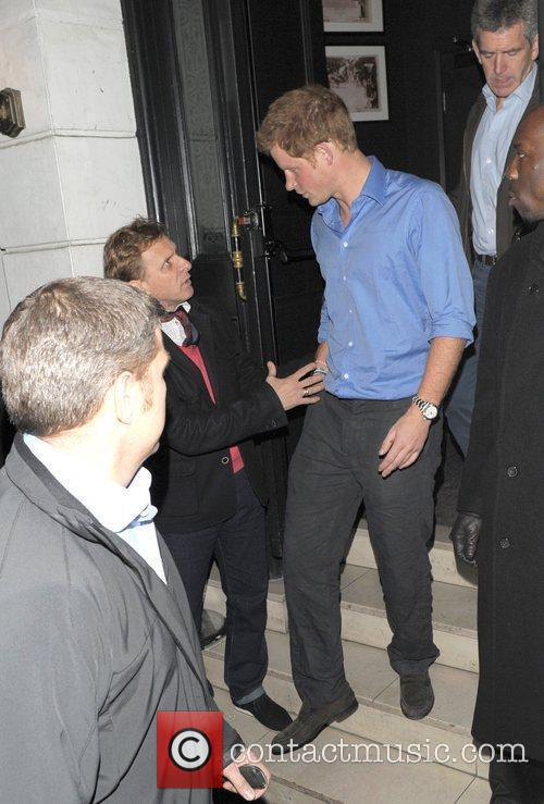 Prince Harry leaves The Brompton Club at 1:20...