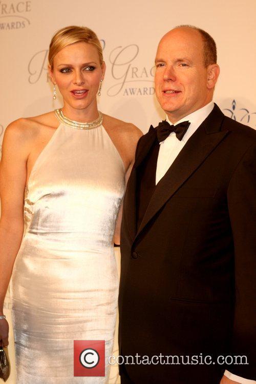 Prince Albert II and Princess Charlene of Monaco...