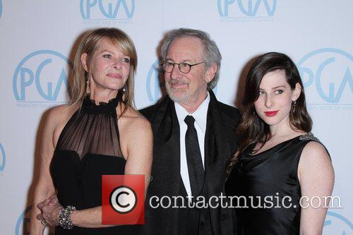 Steven Spielberg, Kate Capshaw and Sasha Spielberg 2