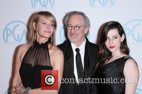 Steven Spielberg, Kate Capshaw and Sasha Spielberg 4