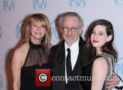 Steven Spielberg, Kate Capshaw and Sasha Spielberg 5