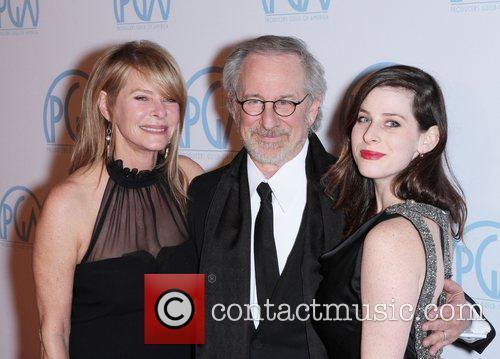 Steven Spielberg, Kate Capshaw and Sasha Spielberg 6