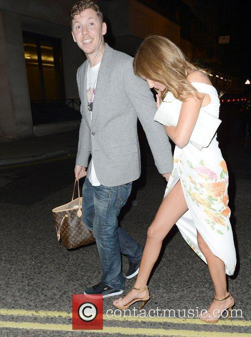 Professor Green and Millie Macintosh leave the Playboy...