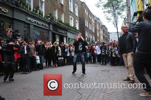 Busking on Carnaby Street
