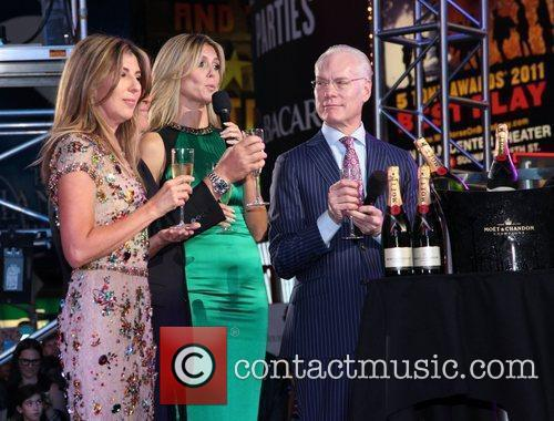 Tim Gunn, Heidi Klum, Nina Garcia and Times Square 2