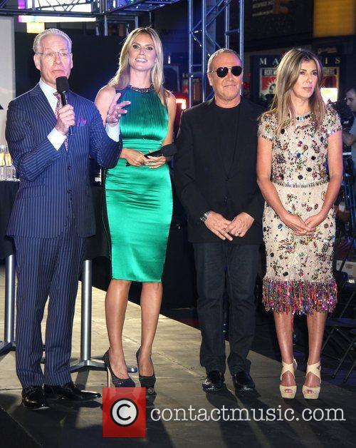 Tim Gunn, Heidi Klum, Michael Kors, Nina Garcia and Times Square 5