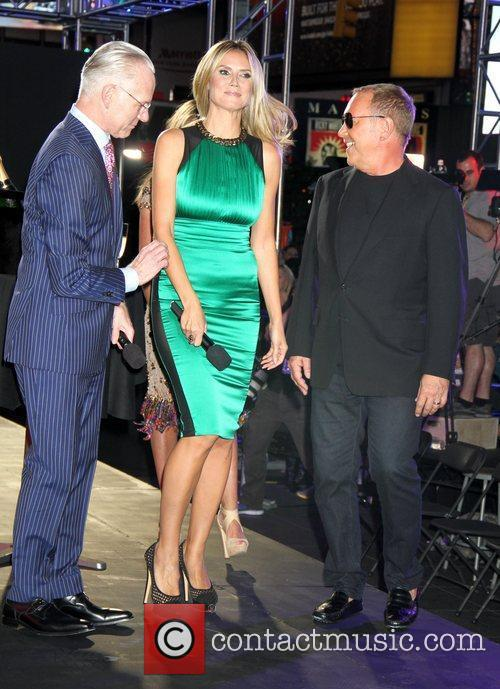 Tim Gunn, Heidi Klum, Michael Kors and Times Square 6