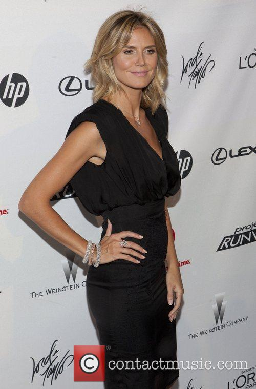 heidi klum project runway 10th anniversary party 3994889