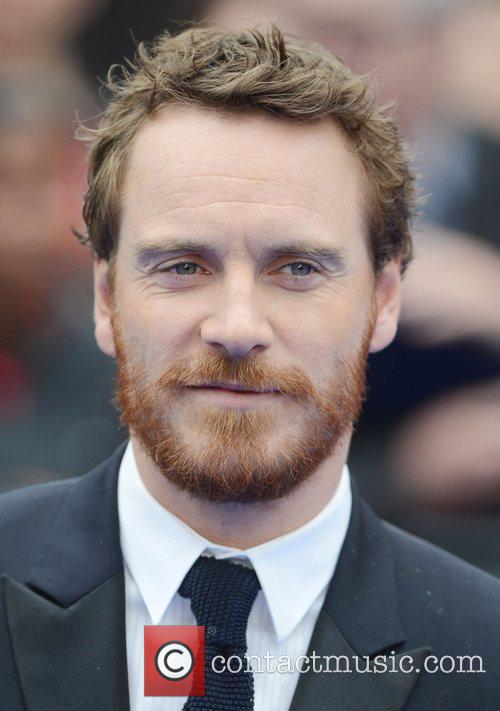 Michael Fassbender at the premiere of Prometheus at...