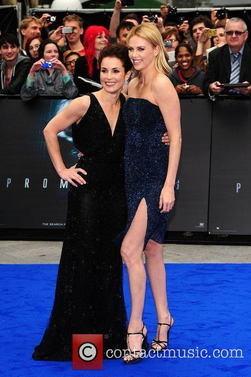 Noomi Rapace and Charlize Theron at the 'Prometheus'...