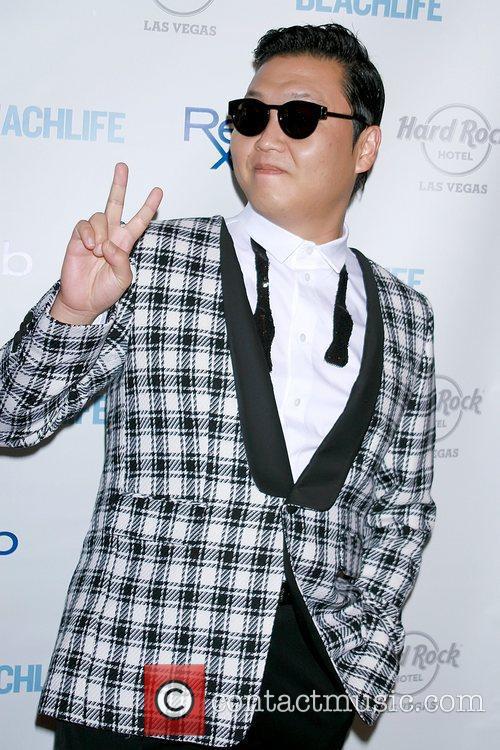 Rapper PSY aka Park Jae-sang helps close out...