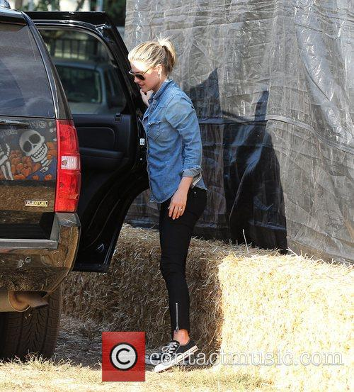 Ali Larter at Mr. Bones Pumpkin Patch Los...