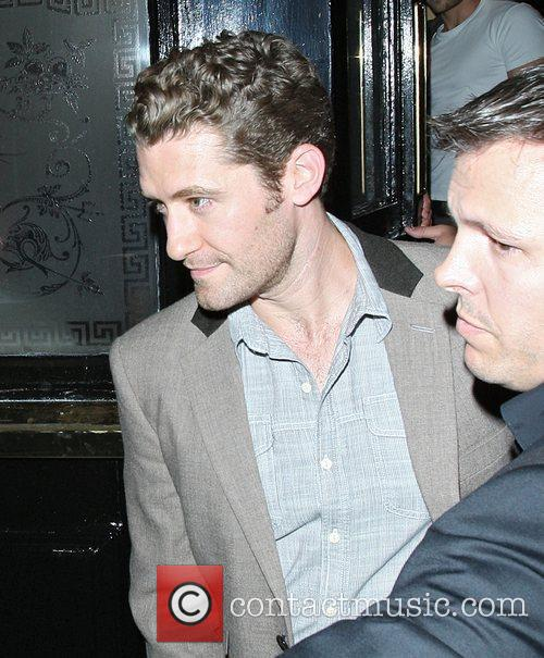 Matthew Morrison leaving The Punch Bowl pub in...