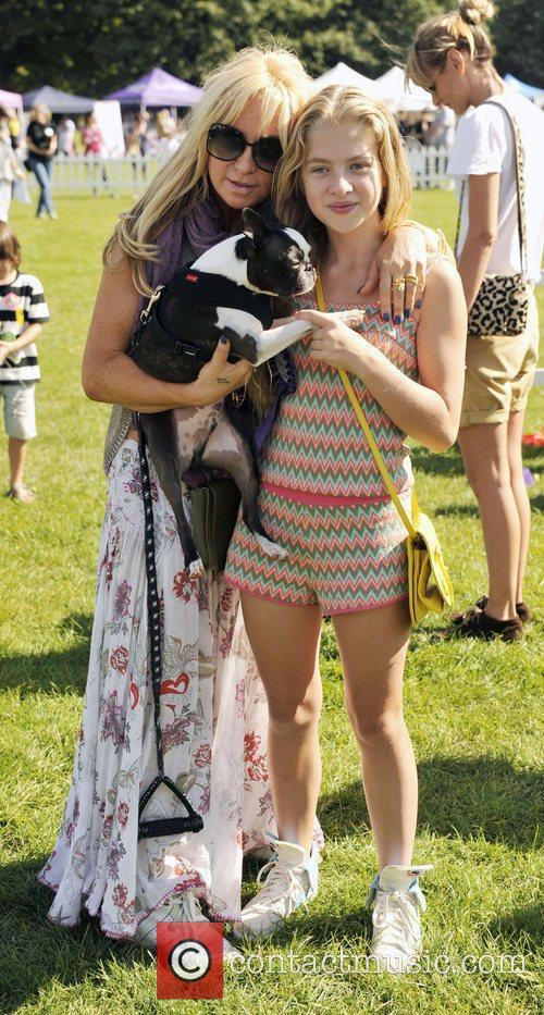Meg Matthews and her daughter Anais attend the...