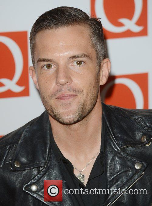 Brandon Flowers from The Killers at Q Awards...