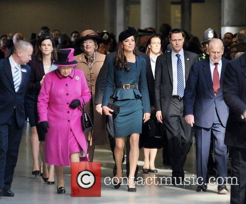 Queen Elizabeth Ii, Duchess, Kate Middleton and Prince Philip 4