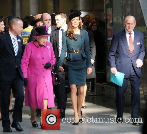 Queen Elizabeth Ii, Duchess, Kate Middleton and Prince Philip 5