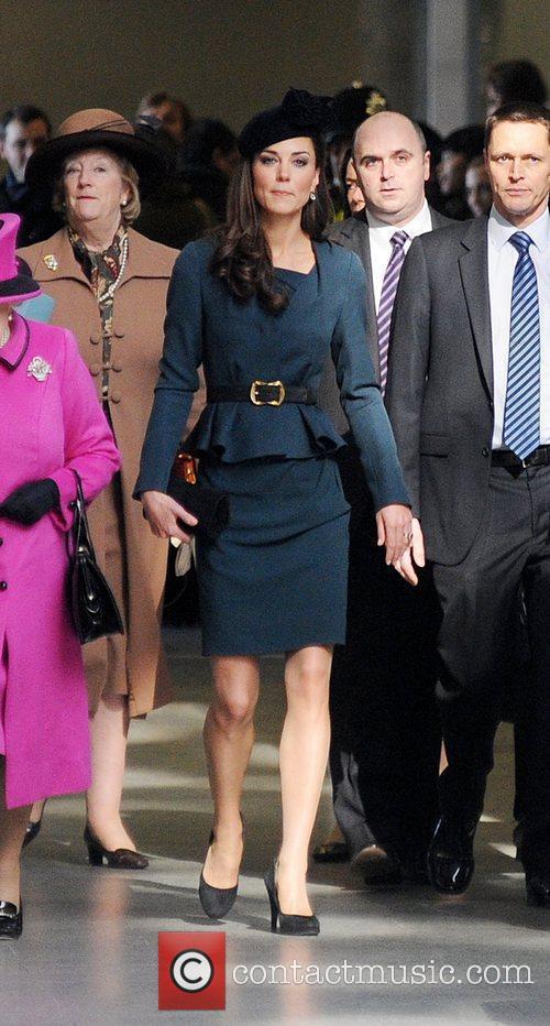 The Duchess of Cambridge, aka Kate Middleton, arrives...