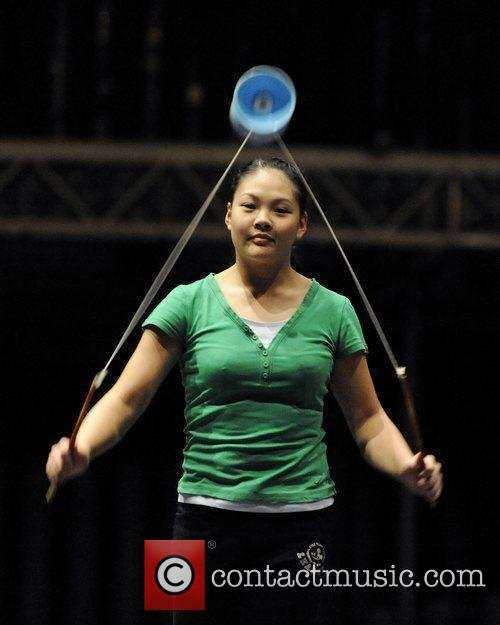Diabolos (Chinese Yo-Yo) performers  Cirque du Soleil's...