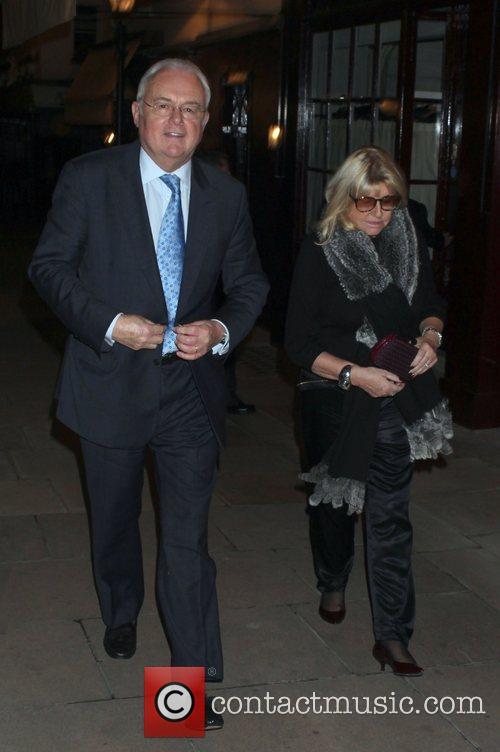 Martin Lewis seen leaving Lou Lou's members club...
