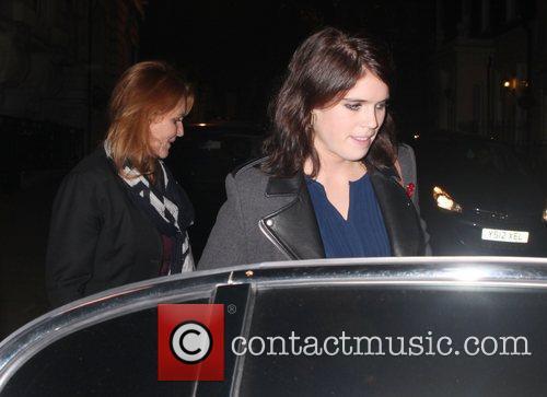 Sarah Fergunson and Princess Eugenie  seen leaving...