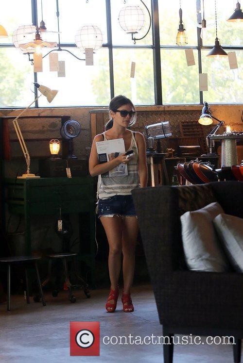 Rachel Bilson visits furniture stores in Culver City...