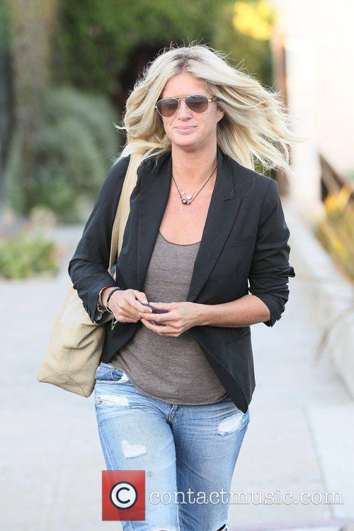 rachel hunter exits andy lecompte salon in 5870639