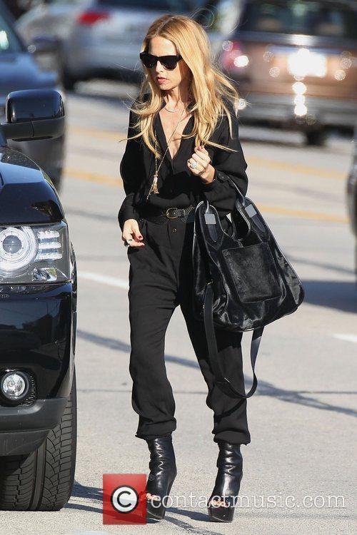 Rachel Zoe walking in Beverly Hills after picking...