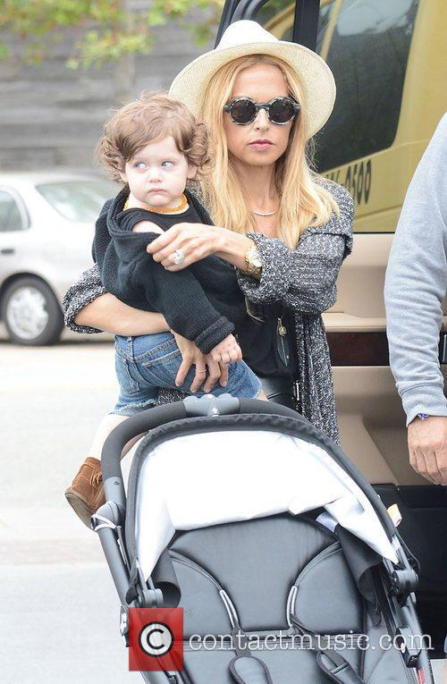 Rachel Zoe and baby Skyler Berman out and...