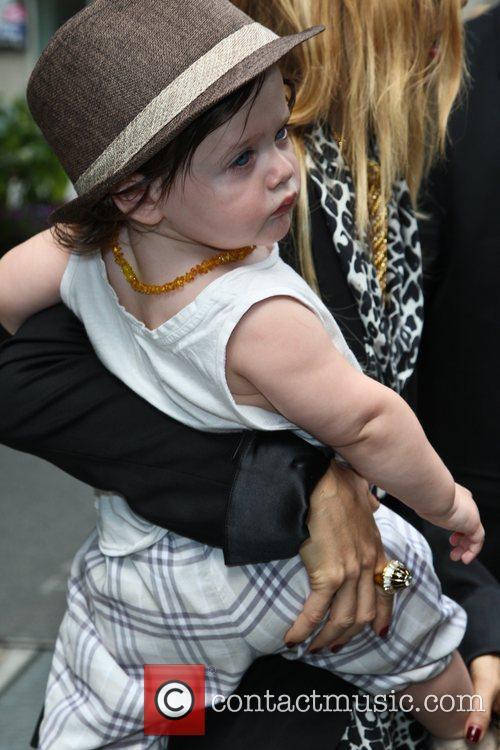 Rachel Zoe and baby Skyler Berman are seen...