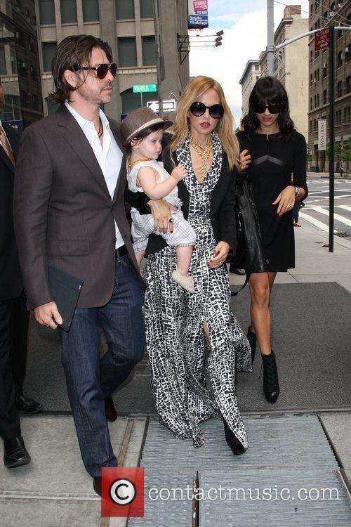 Rachel Zoe, Rodger Berman and baby Skyler Berman...