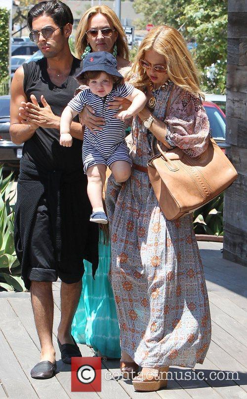 Rachel Zoe and her son Skyler Berman head...