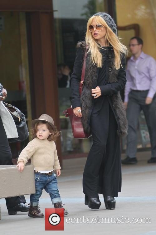 Rachel Zoe out shopping with her son Skyler...