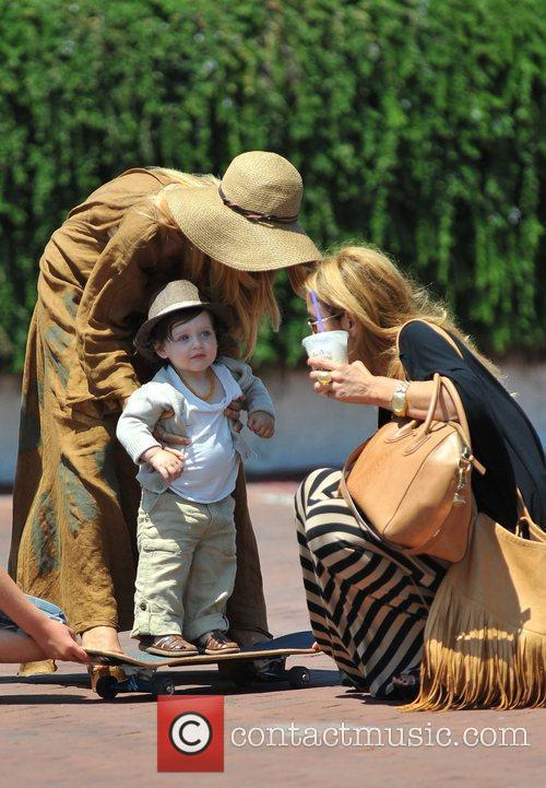 Seen with son Skyler Berman in Malibu