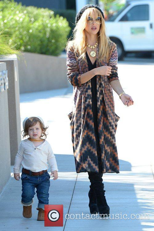 Rachel Zoe and her son Skyler out and...