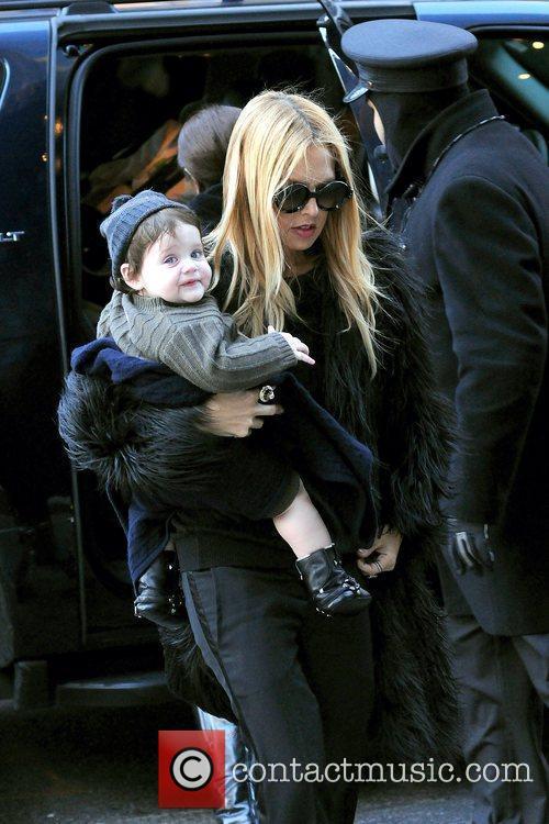 Rachel Zoe and her son Skyler arriving at...