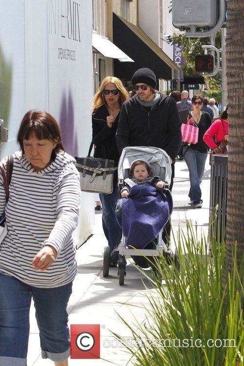 Rachel Zoe, Rodger Berman, and their son Skyler...