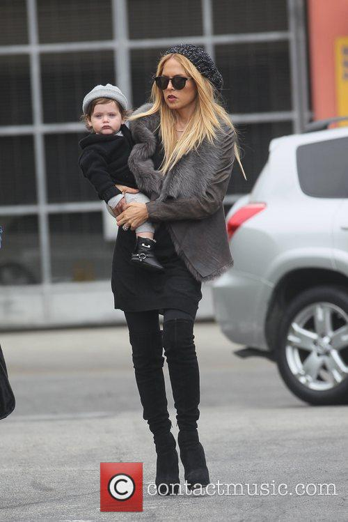 Heading to lunch with her son Skyler Berman